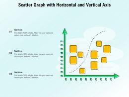 Scatter Graph With Horizontal And Vertical Axis