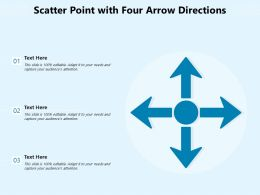Scatter Point With Four Arrow Directions