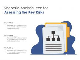 Scenario Analysis Icon For Assessing The Key Risks