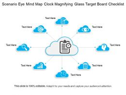 Scenario Eye Mind Map Clock Magnifying Glass Target Board Checklist