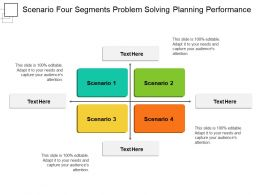 Scenario Four Segments Problem Solving Planning Performance