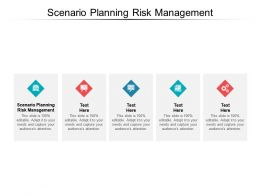 Scenario Planning Risk Management Ppt Powerpoint Presentation Model Images Cpb