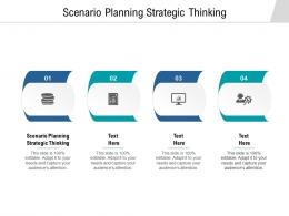 Scenario Planning Strategic Thinking Ppt Powerpoint Presentation Layouts Design Inspiration Cpb