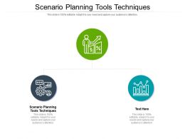 Scenario Planning Tools Techniques Ppt Powerpoint Presentation Infographic Template Maker Cpb