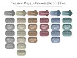 Scenario Project Process Map Ppt Icon