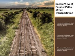 Scenic View Of Parallel Paths Of Rail Transportation