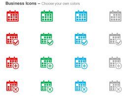 Schedule Add And Delete Calendar Fixed Schedule For Business Ppt Icons Graphics