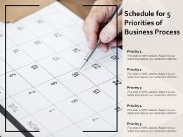 Schedule For 5 Priorities Of Business Process