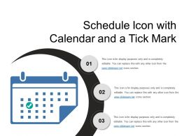Schedule Icon With Calendar And A Tick Mark