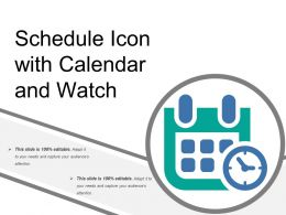 Schedule Icon With Calendar And Watch