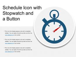 Schedule Icon With Stopwatch And A Button