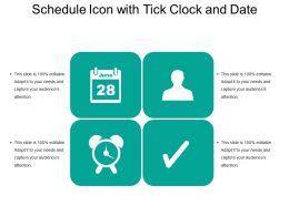Schedule Icon With Tick Clock And Date