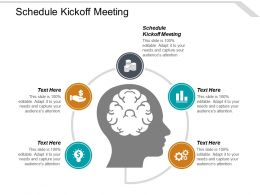 Schedule Kickoff Meeting Ppt Powerpoint Presentation Styles File Formats Cpb