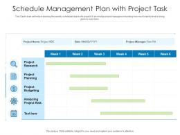 Schedule Management Plan With Project Task