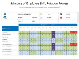 Schedule Of Employee Shift Rotation Process