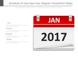 Schedule Of Jew New Year Diagram Powerpoint Slides