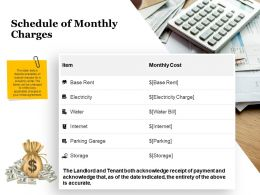 Schedule Of Monthly Charges Acknowledge Ppt Powerpoint Presentation Microsoft