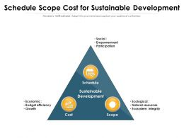 Schedule Scope Cost For Sustainable Development