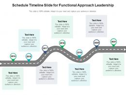 Schedule Timeline Slide For Functional Approach Leadership Infographic Template