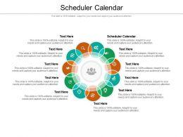 Scheduler Calendar Ppt Powerpoint Presentation Icon Design Ideas Cpb