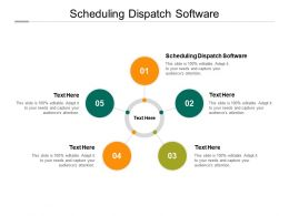 Scheduling Dispatch Software Ppt Powerpoint Presentation Summary Inspiration Cpb
