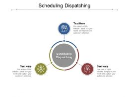 Scheduling Dispatching Ppt Powerpoint Presentation Infographics Graphics Download Cpb