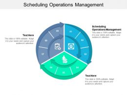 Scheduling Operations Management Ppt Powerpoint Presentation Slides Images Cpb