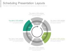 Scheduling Presentation Layouts