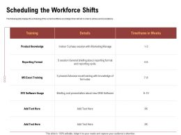 Scheduling The Workforce Shifts Briefing Ppt Powerpoint Presentation Portfolio Guidelines