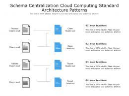 Schema Centralization Cloud Computing Standard Architecture Patterns Ppt Powerpoint Slide