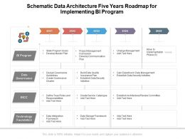 Schematic Data Architecture Five Years Roadmap For Implementing BI Program