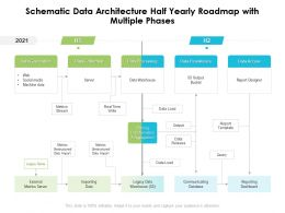 Schematic Data Architecture Half Yearly Roadmap With Multiple Phases