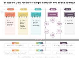 Schematic Data Architecture Implementation Five Years Roadmap