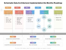 Schematic Data Architecture Implementation Six Months Roadmap