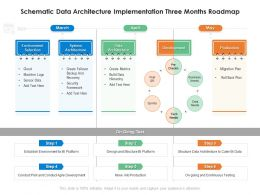 Schematic Data Architecture Implementation Three Months Roadmap