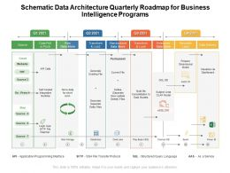 Schematic Data Architecture Quarterly Roadmap For Business Intelligence Programs