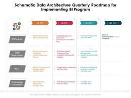Schematic Data Architecture Quarterly Roadmap For Implementing BI Program