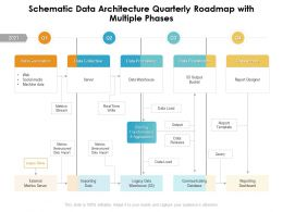 Schematic Data Architecture Quarterly Roadmap With Multiple Phases