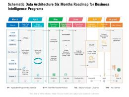 Schematic Data Architecture Six Months Roadmap For Business Intelligence Programs