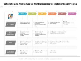 Schematic Data Architecture Six Months Roadmap For Implementing BI Program