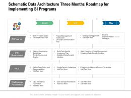 Schematic Data Architecture Three Months Roadmap For Implementing BI Programs