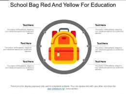 School Bag Red And Yellow For Education