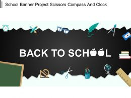 School Banner Project Scissors Compass And Clock