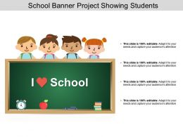 School Banner Project Showing Students