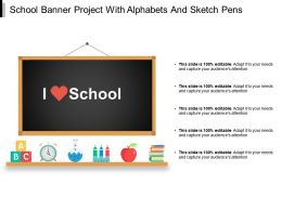 School Banner Project With Alphabets And Sketch Pens