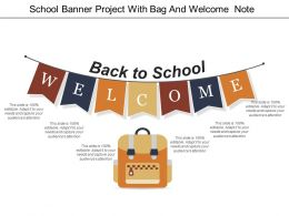School Banner Project With Bag And Welcome Note