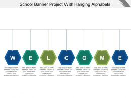 School Banner Project With Hanging Alphabets