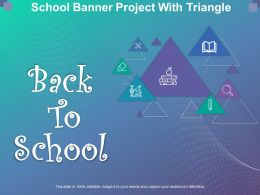 School Banner Project With Triangle