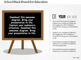 school_black_board_for_education_flat_powerpoint_design_Slide01