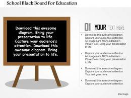 school_black_board_for_education_flat_powerpoint_design_Slide01